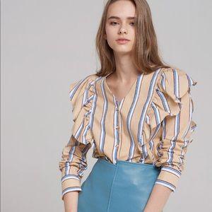 Ruffle wing blouse